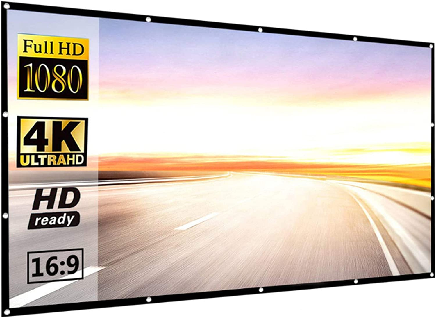 LIUU Sale Special Price Thicken Projection Screen 60in~150in Movie 1 2021 Outdoor