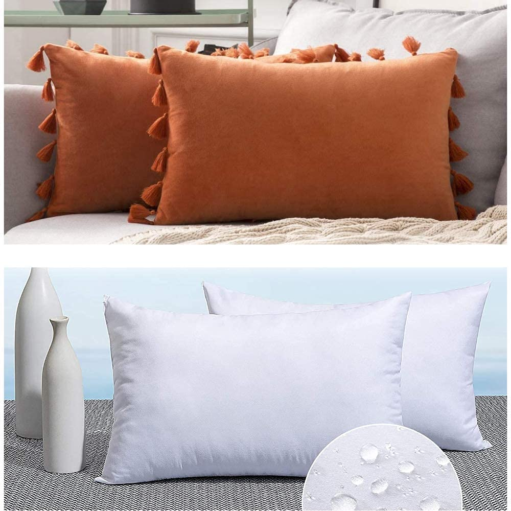 MIULEE 12x20 Velvet Soft Solid wit Decorative Arlington Mall Throw Pillow Cheap mail order sales Cover