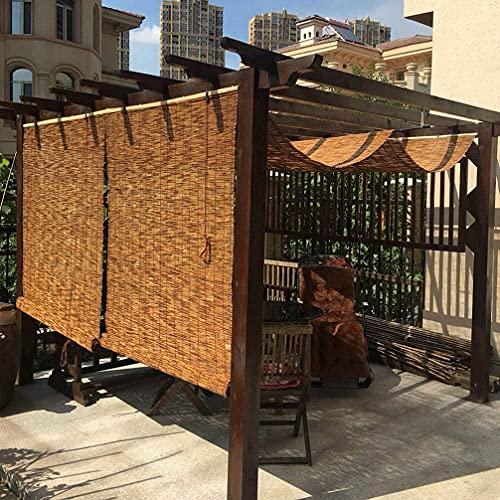 OHKKSD Persianas enrollables de bambú para Exteriores, persianas de bambú para Patio Cortina de caña Sombrilla Cortina de caña Tejida a Mano Impermeable para hoteles, restaurantes decoración
