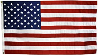 US Flag 5 x 8 ft: 100% American Made – Nylon - Embroidered Stars and Sewn Stripes