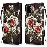 """Nadoli Flip Custodia per iPhone 11 Pro 5.8"""",Colorato Rosa Fiore Premium Pu Pelle con Interno Tpu Supporto Stand Libro Porta Carte Portafoglio Cover Case per iPhone 11 Pro 5.8"""""""