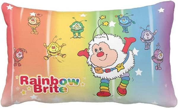 Emvency Throw Pillow Cover Classic Rainbow Brite Twink Dancing Decorative Pillow Case Retro Home Decor Rectangle Queen Size 20x30 Inch Cushion Pillowcase