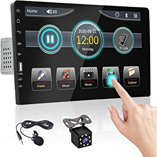 $109 » Single Din 9 Inch Car Stereo 1080P Full Display Touchscreen Car Radio Bluetooth Hans-Free Calling FM Receiver in-Dash Head...