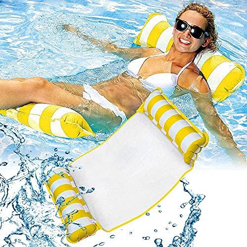 wsbdking Piscina inflable de agua flotante Hamaca de flotador de la hamaca con aire ligero ligero de la silla de la cama de la cama de la cama reclinable de la balsa de la cama de la cama de la baterí
