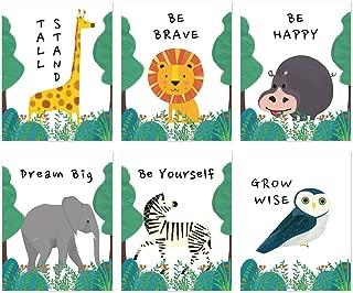 Ihopes Woodland Animals Nursery Wall Decor Art Prints | Set of Six 8x10 Unframed | Inspirational Motivational Quote Kids Room Decor Wall Art Poster | Cute Baby Girl Boy Nursery Bedroom Bathroom Decor