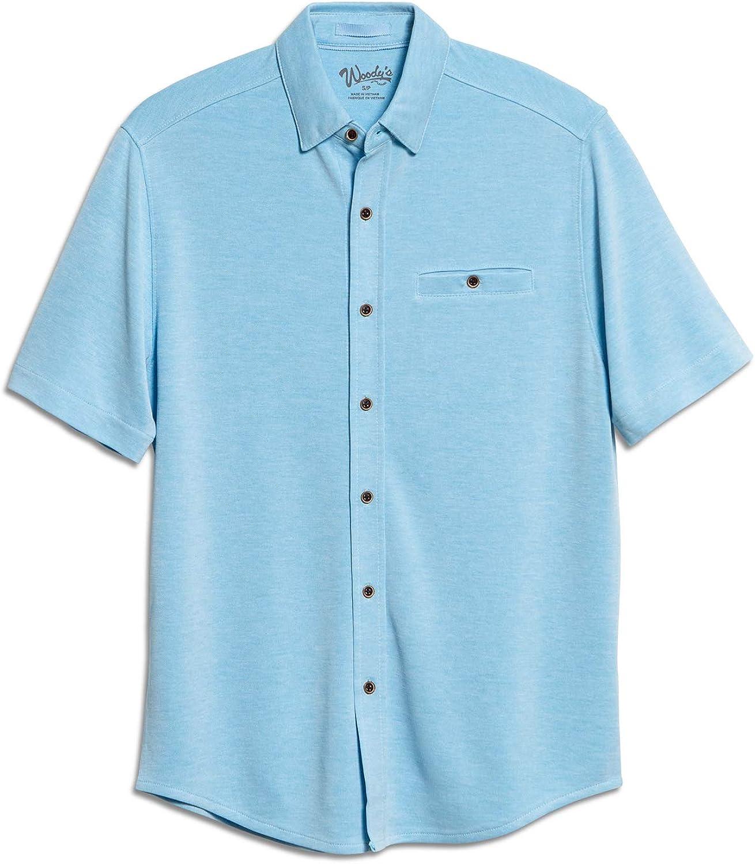 Men's Comfort Modal Camp Shirt - Full Button-Front Closure Short Sleeve, Mens Casual Shirt, Premium Camp Shirt for Men