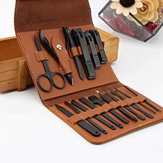 AIWOGEP 16 Pieces Manicure Set with PU Leather Case, Personal Care Tool, Gifts for Men/Women, Anniversary, Christmas, Birthday, Married Couples Anniversary, Stocking Stuffers