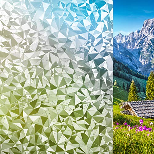 Lifetree Fensterfolie Dekorfolie Sichtschtzfolie Privatesphäre Lichtbrechung ohne Klebstoff 44.5x200CM Zerkleinerte Steine