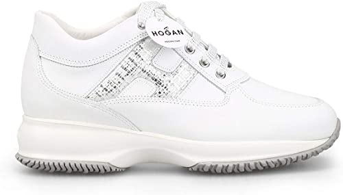 Hogan Damen HXW00N0S361KJT0351 Weißs Leder Turnschuhe