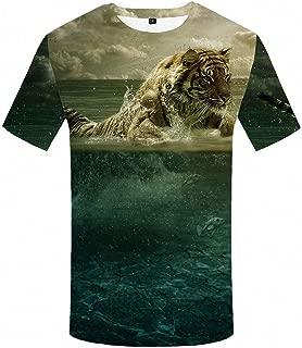 Tiger T Shirt Water Cloud Shirts Animal Plus Size Tshirt Men Hip Hop Homme