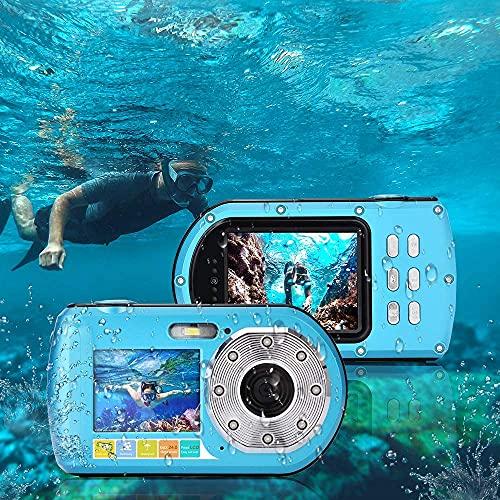Unterwasserkamera Tauchen 10M Full HD 1080P wasserdichte Kamera zum Schnorcheln Selfie Dual Screen Action Kamera 24MP Videorecorder 16X Digital Zoom Kamera