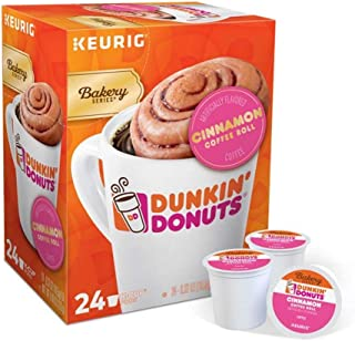 Keurig Coffee Pods K-Cups 16/18 / 22/24 Count Capsules ALL BRANDS/FLAVORS (24 Pods Dunkin Donuts - Cinnamon Coffee Roll)
