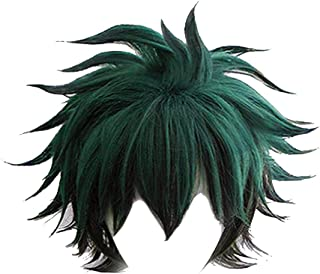 My Hero Academia Izuku Midoriya Cosplay Full Wigs Short Green Black Hair