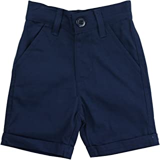 RuggedButts Little Boys Cuffed Chino Shorts with Adjustable Waistband