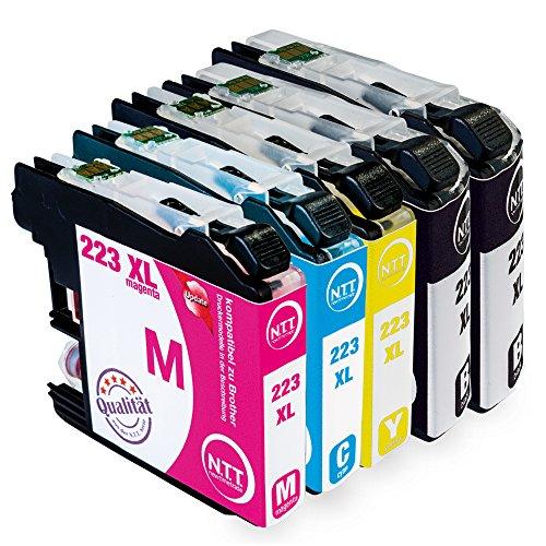 NTT 5 XXL kompatible Druckerpatronen als Ersatz für Brother LC223xl LC223 XL LC 223xl LC 223 XL (2X Schwarz, 1x Cyan, 1x Magenta, 1x Yellow)