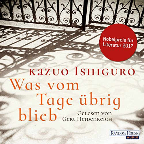 Was vom Tage übrig blieb audiobook cover art