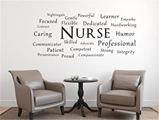 yeyekyt Wall Decal Stickers Quotes Saying and Words DIY Nurse Decal Nurse RN Wall Decal Doctor Decal Nurse Gift Sticker Nursing Decal Nurse Decor Nurse Gift Ideas Quotes Religious