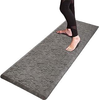 HEBE Oversized Kitchen Mat Thick Cushioned Anti-Fatigue Floor Mat Waterproof Non-Slip Standing Mat Comfort Kitchen Rug Run...