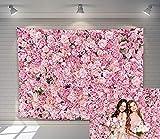 Telón de fondo de flores rosa para pared de boda, para niñas y mujeres, para fiesta de...