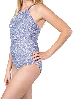 Oceanlily Women Breastfeeding Swimsuit-Nursing Swimsuits-One Piece Bathing Suit
