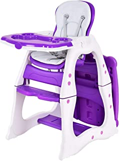Costzon Baby High Chair, 3 in 1 Infant Table and Chair Set, Convertible Booster Seat with..