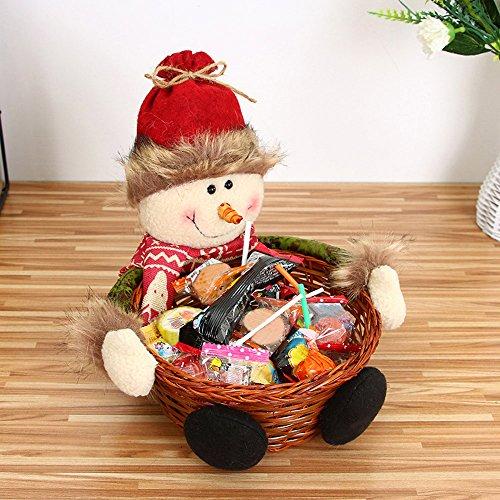 SportUnion - Cesto portaoggetti per caramelle natalizie, ideale come regalo di Babbo Natale