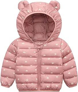 Xifamniy Infant Baby Long Sleeve Wadded Jacket Solid Color Cartoon Animals Print Coat