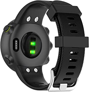 Disscool Replacement Wrist Bands for Garmin Forerunner Garmin Forerunner 45/45S,Soft Silicone Wrist Strap for Garmin Forerunner 45/45S(Silicone Black)