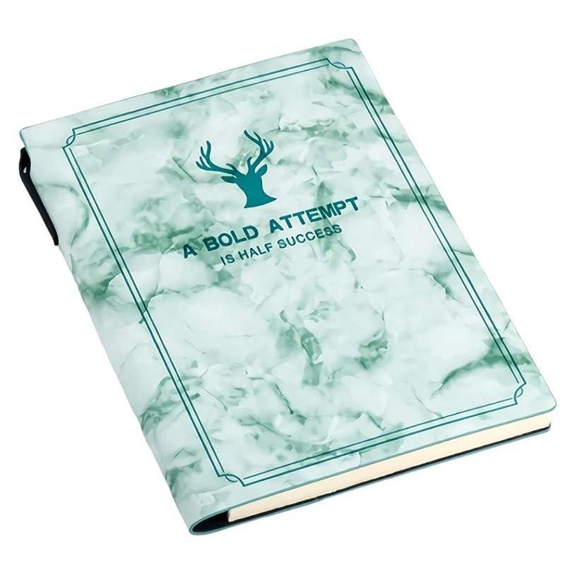 革ノート-A5ビジネスノートシンプルオフィス文具ノートノート日記会議記録これ小さな新鮮な革の本 (Color : E)