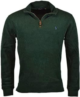 Men's Half Zip French Rib Pony Logo Cotton Pullover Sweater