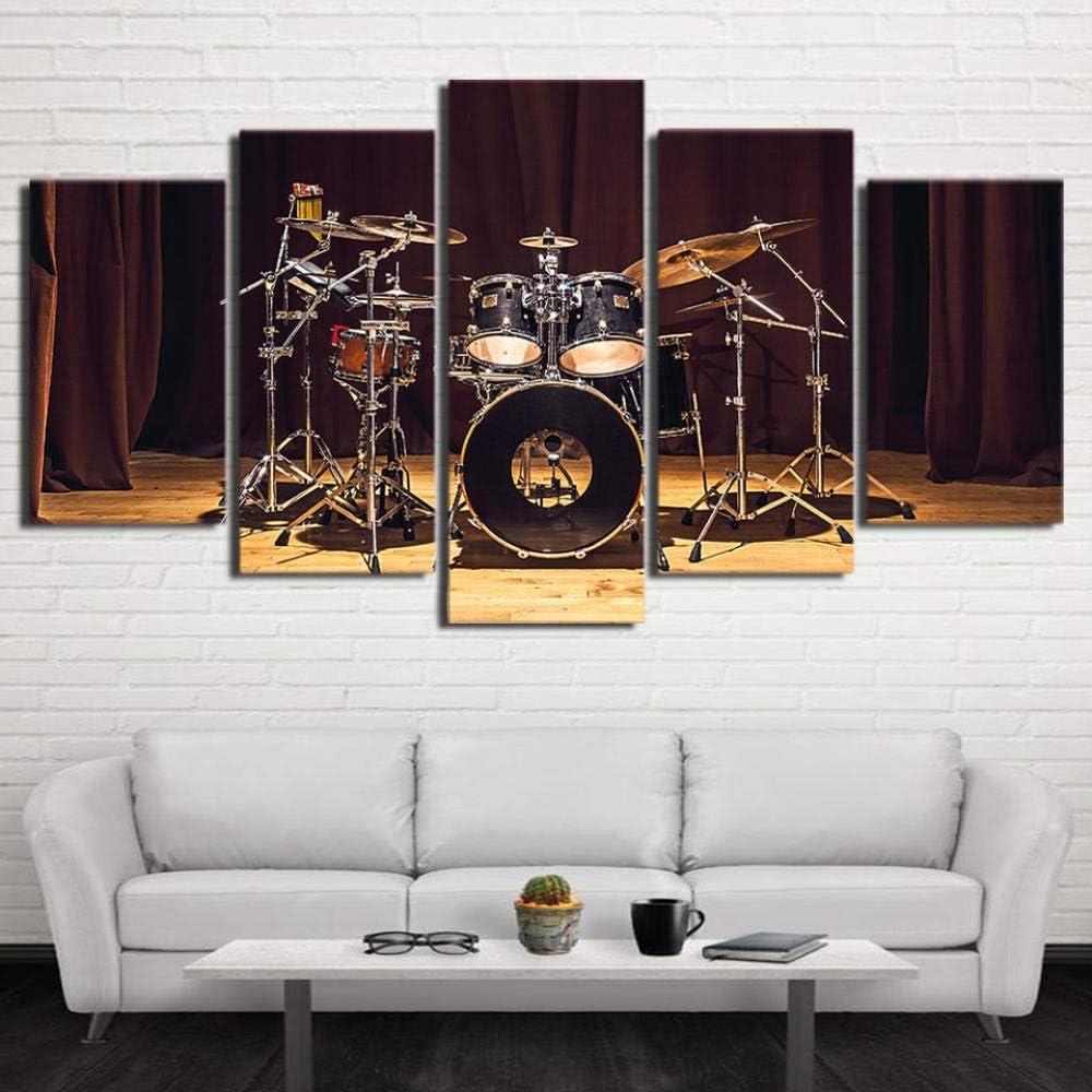 Loveygg 5 Piezas Pintura sobre Lienzo Moderna Pintura Impresi/ón del Hogar Sala Estar Dormitorio Cuadro sobre Lienzo Regalo Carteles Tambores De Escenario De M/úsica Rock,M:55x100cm