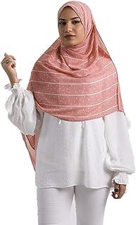 Lightweight Breathable Chiffon Flower Pattern Long Scarf for Women Head Wrap Scarf Shawl for All Seasons