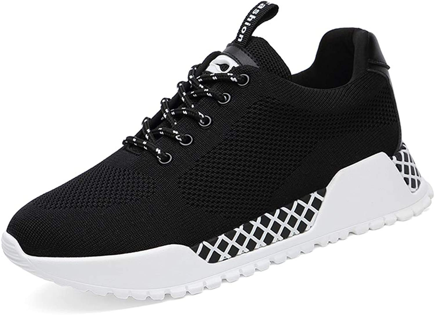 Btrada Women's Fashion Sneakers Round Head Sports shoes Casual Anti-Slip Lace-up Walking Running shoes