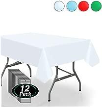 Vessel Goods 12-Pack Premium Disposable Plastic Tablecloth 54