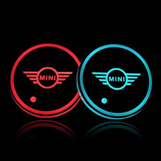 Auto Sport 2PCS LED Cup Holder Mat Pad Coaster with USB Rechargeable Interior Decoration Light Fit Mini Accessories