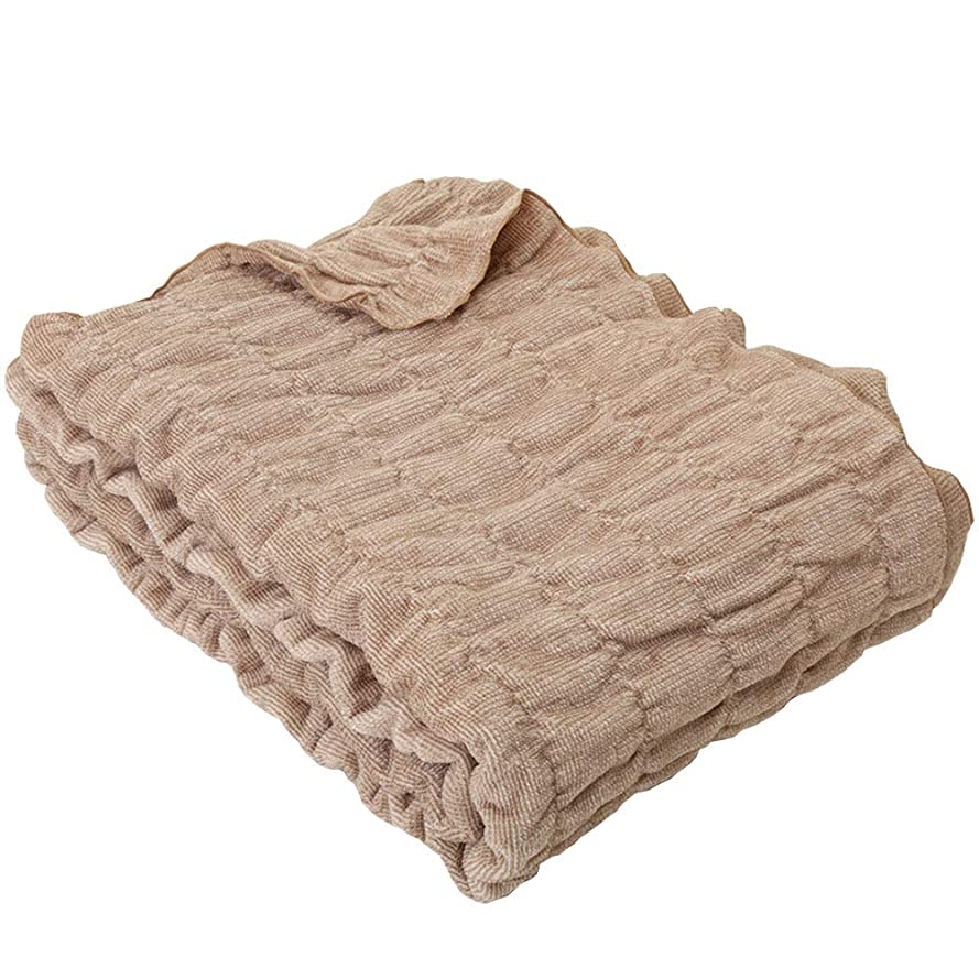 遠足ミュウミュウ遺伝的昭和西川 オーガニックコットン ふわもこ ケット シングル 140×200cm 綿毛布 (ブラウン)