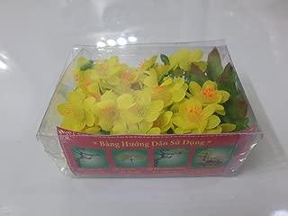 Plastic Artificial Yellow Apricot blossom Flower (hoa mai chùm)