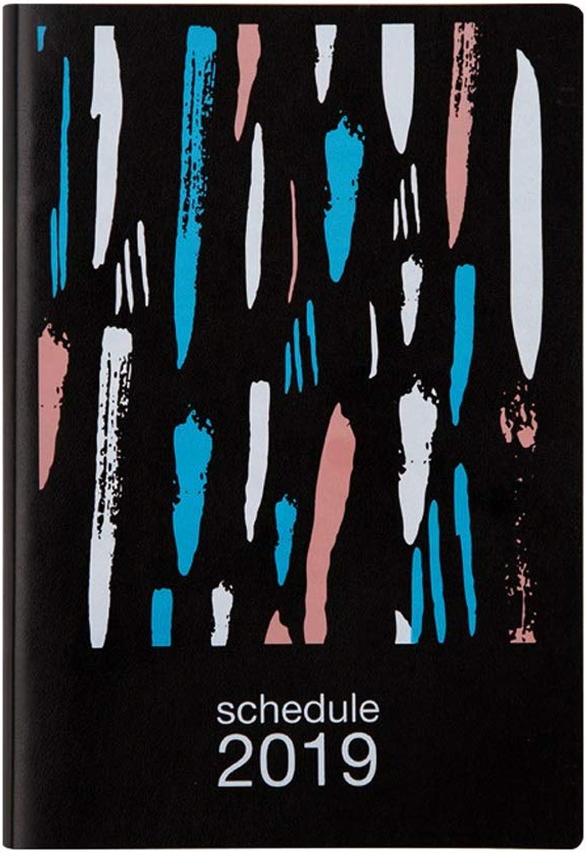 Kaiyu Zeitplan Zeitplan Zeitplan Zeitplan, Creative Notebook Stationery Book, Studentisches Notizbuch, Einfaches Notizbuch (Farbe   schwarz) B07MPBX13L | Smart  | Qualität  | Viele Stile  9f2944