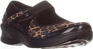 BZees Womens Freefall Closed Toe Mary Jane Flats, Black, Size 8.5