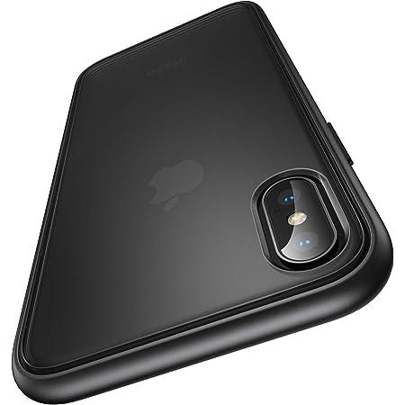 【Humixx】For iPhone Xs ケース For iPhone X ケース 米軍MIL規格取得 耐衝撃 半透明 マット加工 黄ばみなし レンズ保護 ワイヤレス充電対応[Shockproof Series] (マット・ブラック)