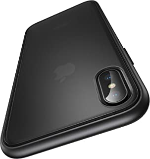 【Humixx】iPhone Xs ケース iPhone X ケース 米軍MIL規格取得 耐衝撃 半透明 マット加工 黄ばみなし レンズ保護 ワイヤレス充電対応[Shockproof Series] (マット・ブラック)