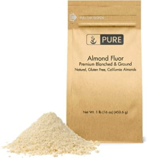 Almond Flour (1 lb. (16 oz.)) by Pure Organic Ingredients, Paleo & Keto Friendly, Gluten-Free, Vegan, Product of California, Blanched Almonds