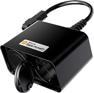 Presa WiFi Esterna Multipresa Intelligente Outdoor Smart Spina Plug 2 Prese uscita, Funzione Timer, Controllo Remoto, Comp...