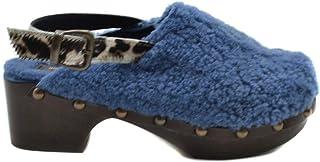 Luxury Fashion | Avec Moderation Women MCBI39456 Light Blue Leather Wedges | Season Outlet