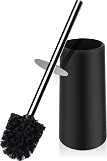 Toilet Brush and Holder,Toilet Bowl Brush with 304 Stainless Steel Long Handle, Hidden Toilet Brush with Durable Scrubbing...
