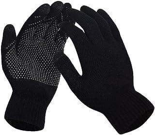Mokie Mens&Womens Screen Knitted Non-Slip Gloves Soft Woolen Winter Gloves Mittens
