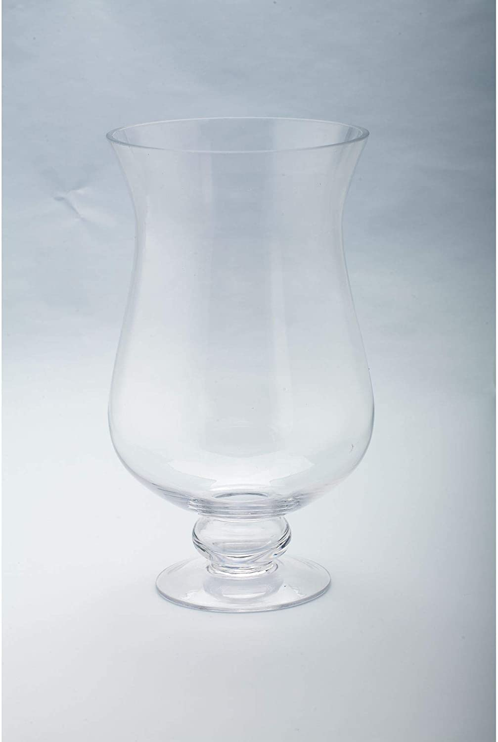 """OFFicial mail order Factory outlet CC Home Furnishings 12"""" Handblown Ca Pillar Hurricane Glass"""