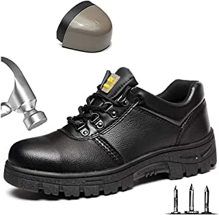 Zapatos de protecci/ón para Soldador Estilo de Caminar Antideslizante NinJaSun Botas de Seguridad para el Trabajo Impermeables con Puntera de Acero