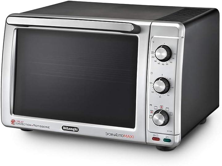 De`longhi eo32852 sfornatutto maxi forno elettrico, 32 litri, 2200 w, nero