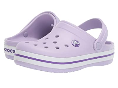 Crocs Kids Crocband Clog (Toddler/Little Kid) (Lavender/Neon Purple) Kids Shoes